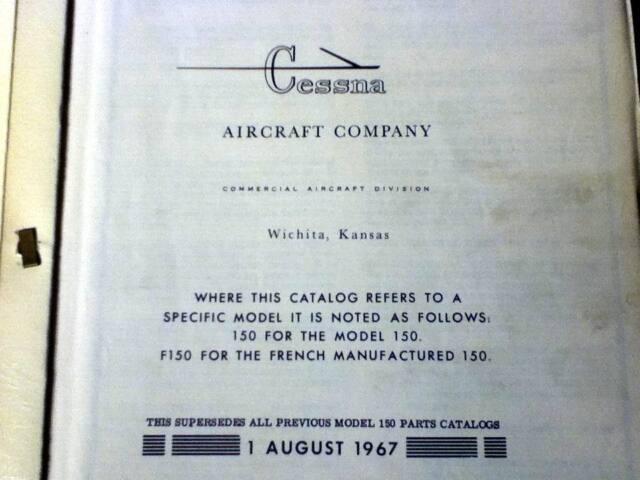 1959 1968 cessna 150 parts manual ebay rh ebay com Cessna 150 Taildragger Flying Cessna 150
