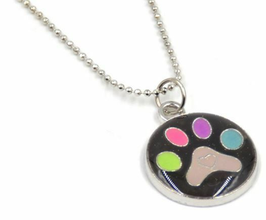 Color change bear foot print paw claw mood pendant necklace ebay aloadofball Gallery