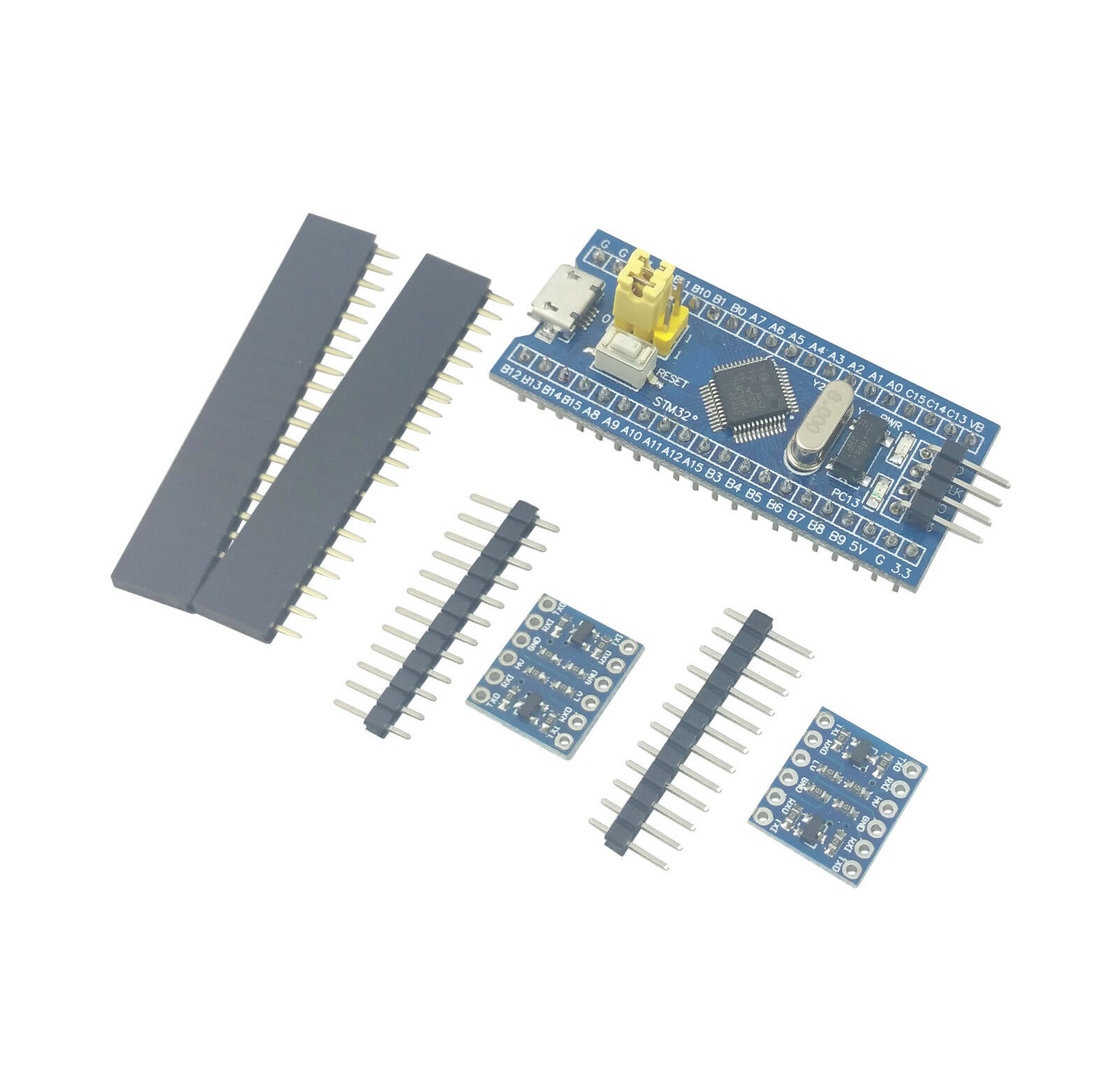 Stm32f103 Arm Stm32 Board Module Blue Pill W/ 2logic Level Converters  Headers