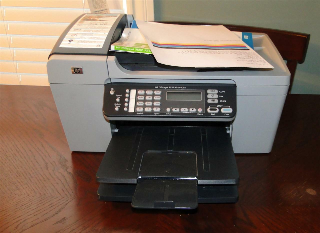 HP Officejet 5610 All-in-One Printer Setup Instructions