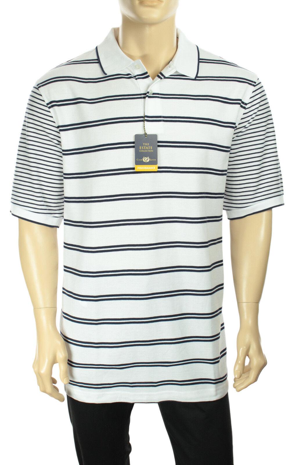 Mens Club Room Big Tall Performance Wicking Upf 25 Mesh Polo Shirt