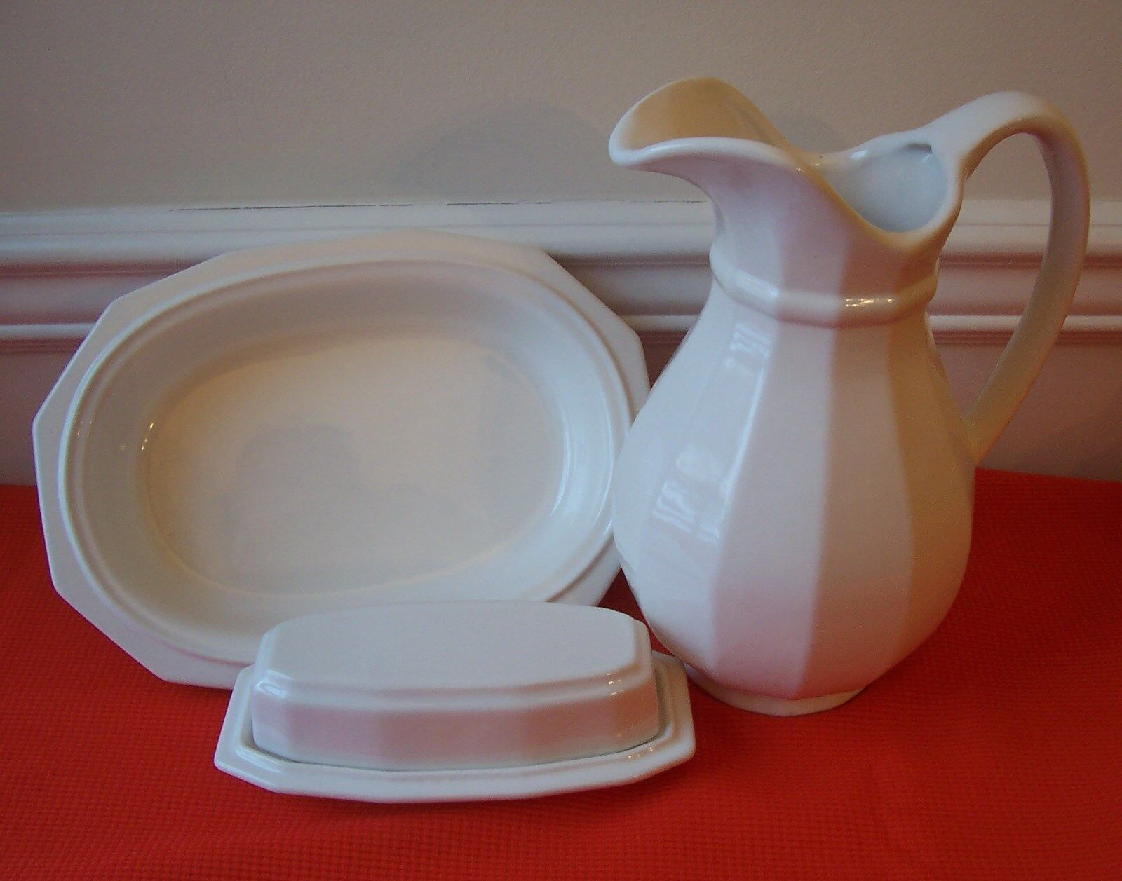 Pfaltzgraff Heritage White Covered Butter Dish | eBay