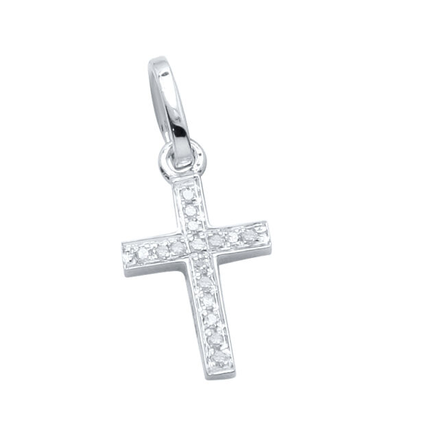 Apex cross diamond pendant 14k white gold religious charm small ebay small 14k white gold natural pave diamond cross religious pendant charm necklace aloadofball Gallery