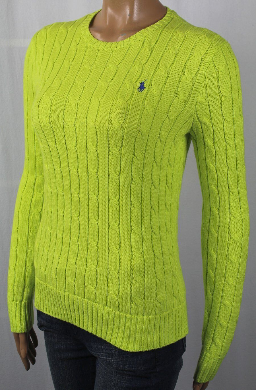 Polo Ralph Lauren Sweater Womens Crew Neck Cable Knit Pullover ...