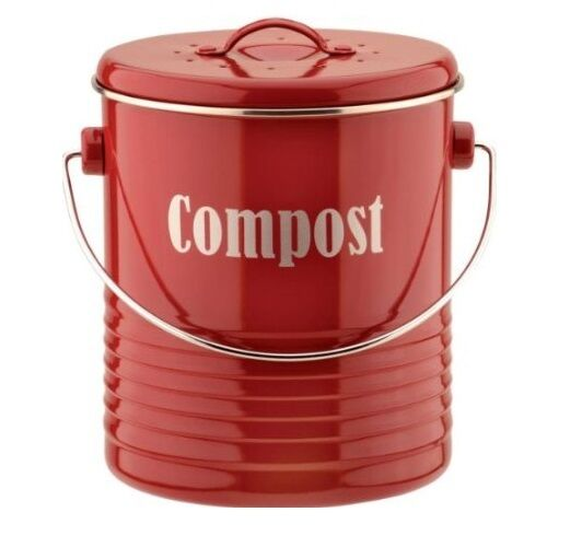 Brand New Typhoon Vintage Kitchen Compost Caddy - Red