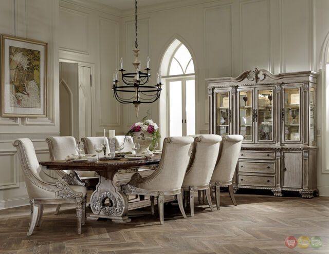 Orleans Ii White Wash Traditional 7pc Formal Dining Room Furniture Set