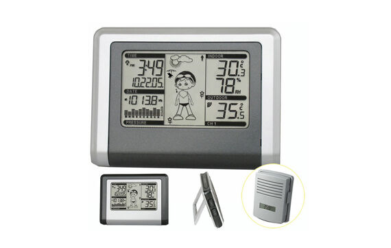 Funk Wetterstation WH1270 Barometer inkl. 1 Funk-Sensor Funkuhr
