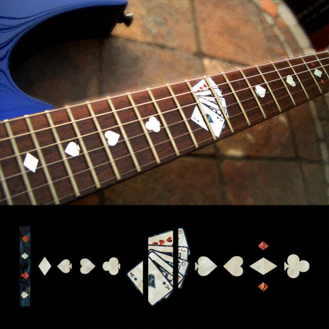 Fretboard Markers Inlay Sticker Decals Guitar Playing Card