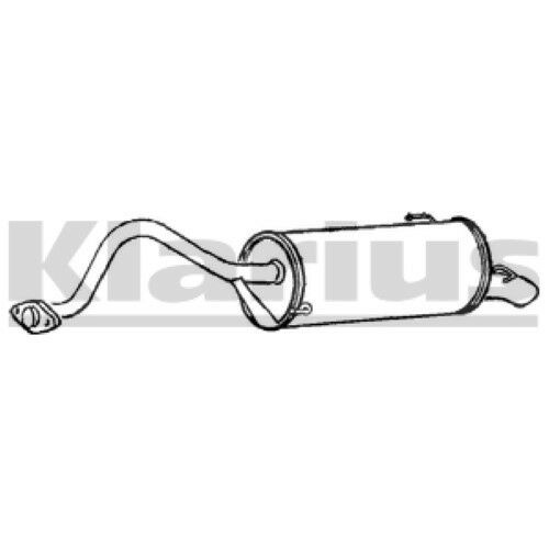 1x KLARIUS OE Quality Replacement Rear / End Silencer Exhaust For TOYOTA Petrol