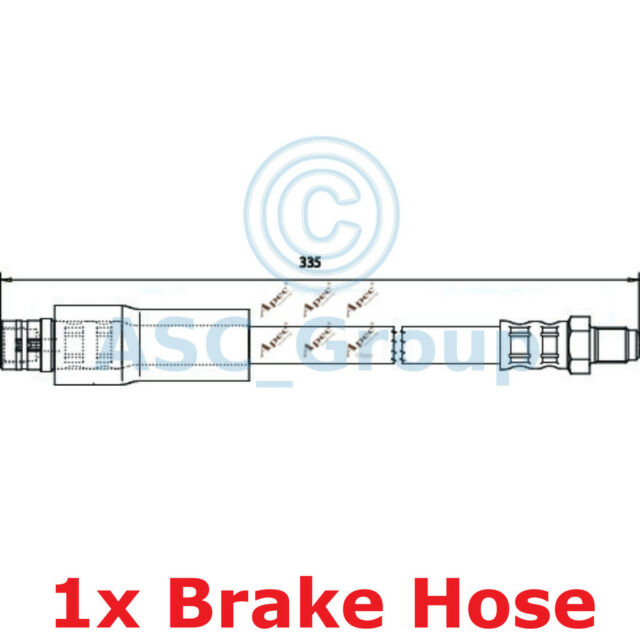 Apec Braking 335mm Disc Brake Caliper Flexible Rubber Hose HOS3765