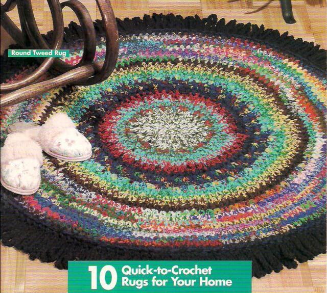 Scrap Yarn Rugs Crochet Pattern 101039 10 Designs 1995 Ebay