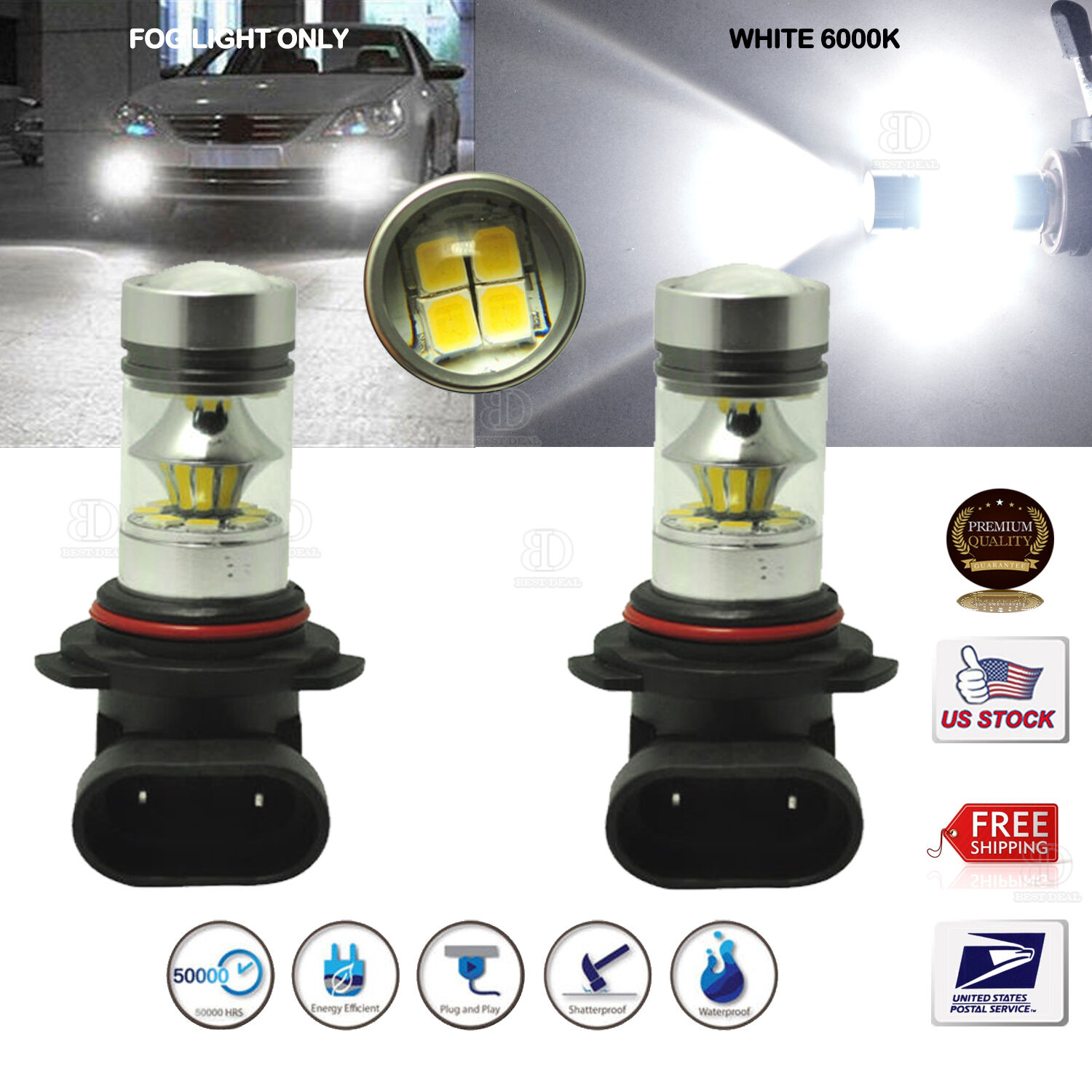 lamp leds led product pair super bulbs alla fog light shop power white high
