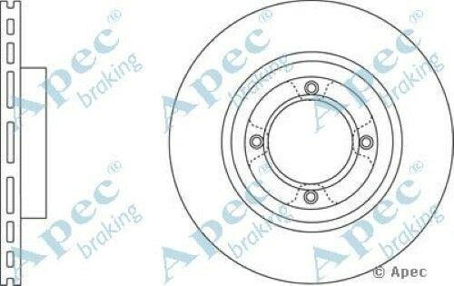 1x OE Quality Replacement Front Axle Apec Vented Brake Disc 4 Stud 234mm Single