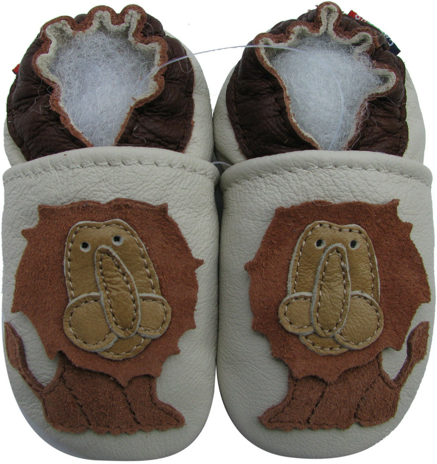 Carozoo Lion King 6 12m Soft Sole Leather Baby Shoes