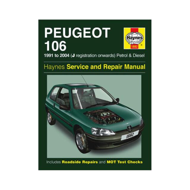 peugeot 106 haynes manual 1991 to 1998 petrol diesel rallye gti 16 rh ebay co uk Peugeot 108 Peugeot 202