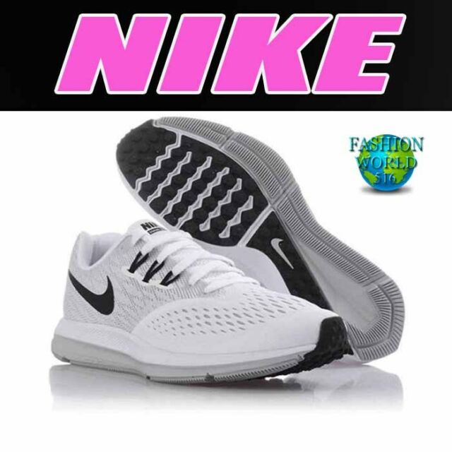 Nike Women's Size 9.5 Zoom Winflo 4 Running Shoes 898485 100 White/Black/ Grey