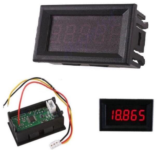 """Red 0.36"""" LED 5 Digit DC 0-33.000V Digital Voltmeter Voltage Meter Car Panel  U8"""
