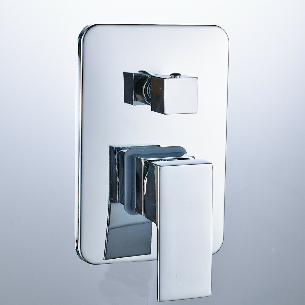 3 Way Wall-mount Shower Faucet Control Valve Mixer Tap Single Handle ...