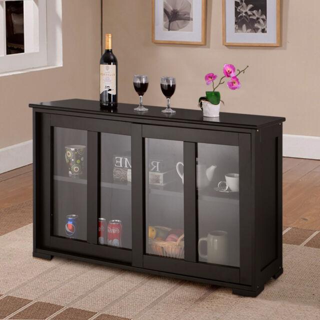 Kitchen Cabinets Sliding Doors: Storage Sideboard Home Kitchen Cupboard Buffet Cabinet