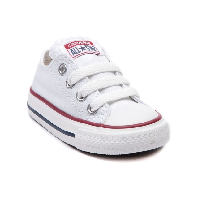 Converse All Star Low Chucks Infant Toddler Optical White Canvas Shoe 7J256