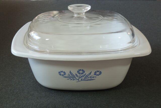 Corning Ware Cornflower Blue Casserole Roaster Dutch Oven