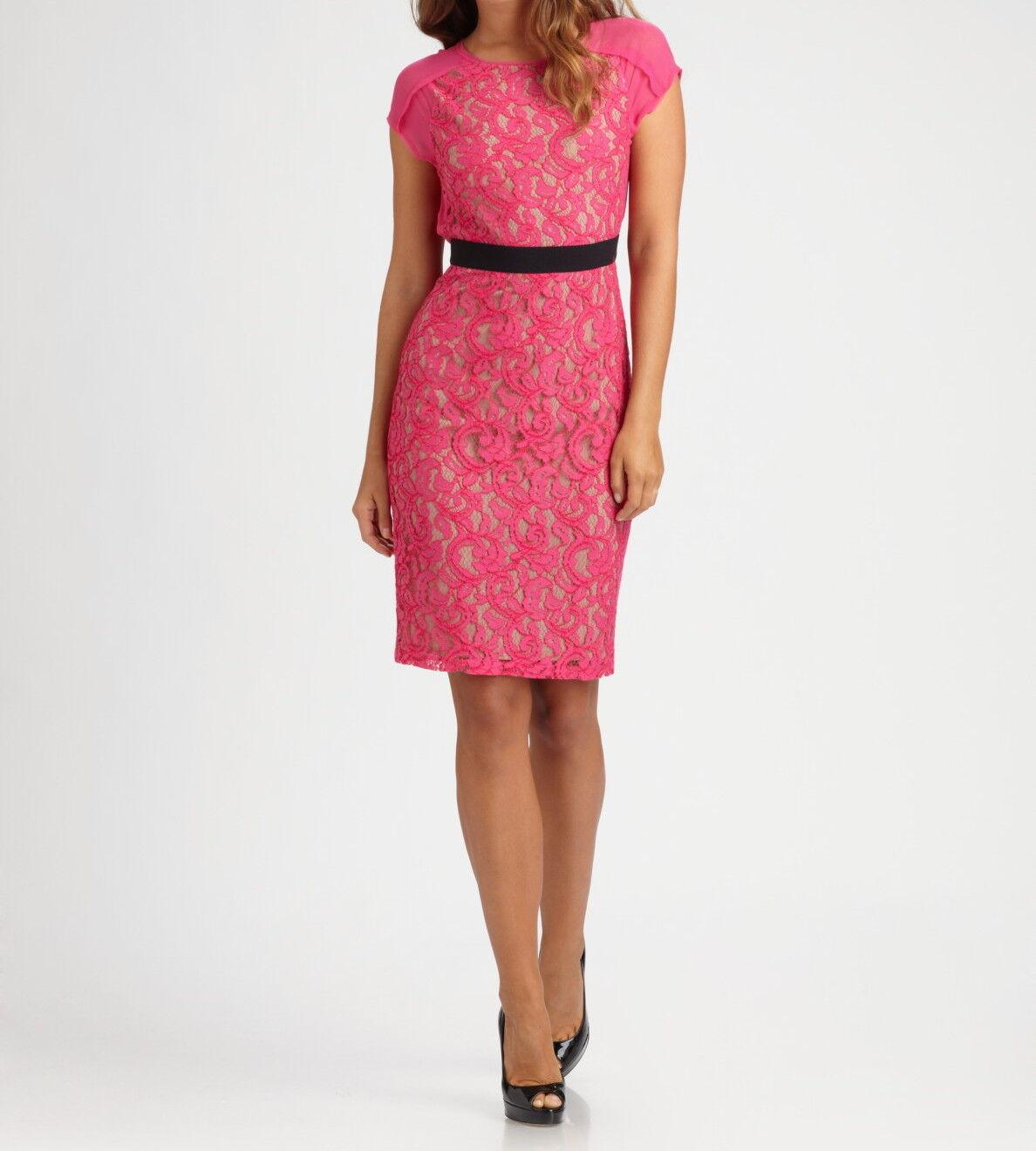 BCBG Max Azria Begonia Chara Lace Dress Eup6u799/m844a Sz 8p | eBay