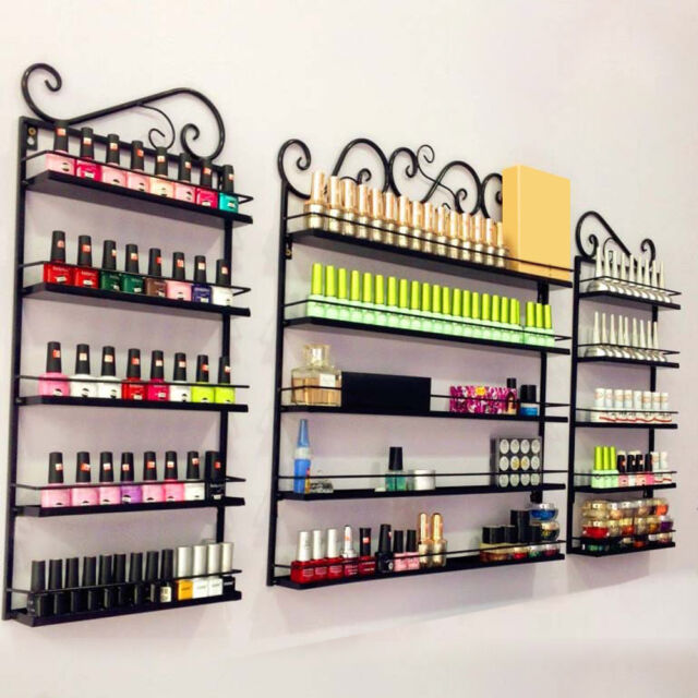 Metal Wire Nail Polish Display Organizer Wall Rack Hold Up