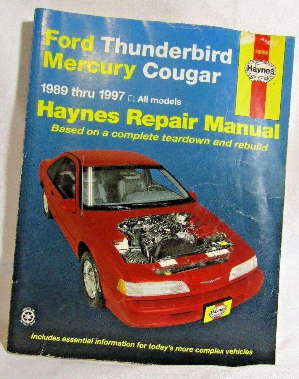 repair manual haynes 36086 ebay rh ebay com 1997 Mercury Cougar XR7 Body Kits 1997 Mercury Mountaineer
