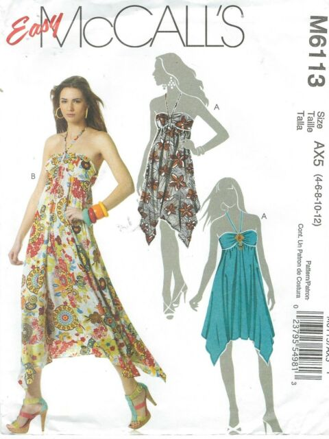 M6113 Mccall\'s Sewing Pattern Misses Dress in Two Lengths Uncut ...