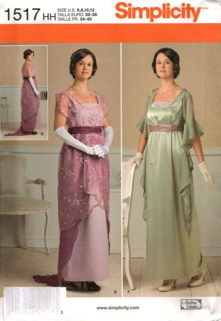 From UK Sewing Pattern Dress Edwardian Downton Period Costume 6-12  #1517