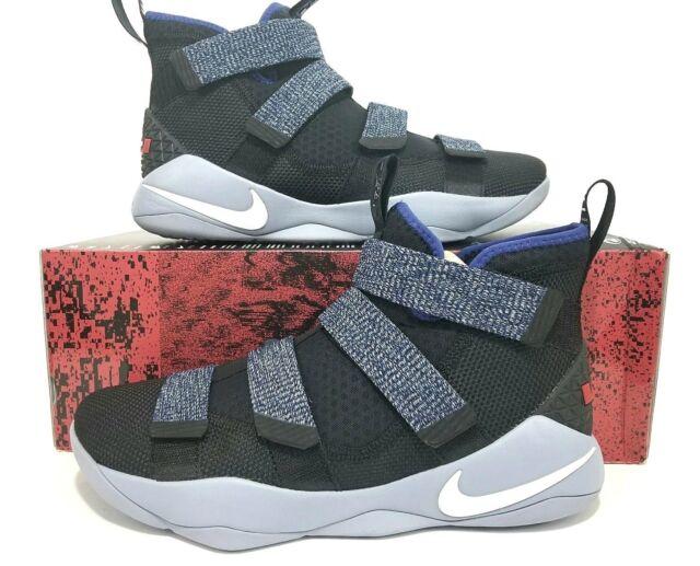 cc7148236a ... best price nike lebron soldier xi mens basketball size 12 897644 005  black white blue royal