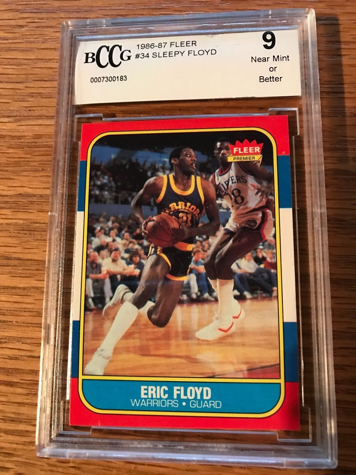 1986 Fleer Sleepy Floyd 34 Basketball Card