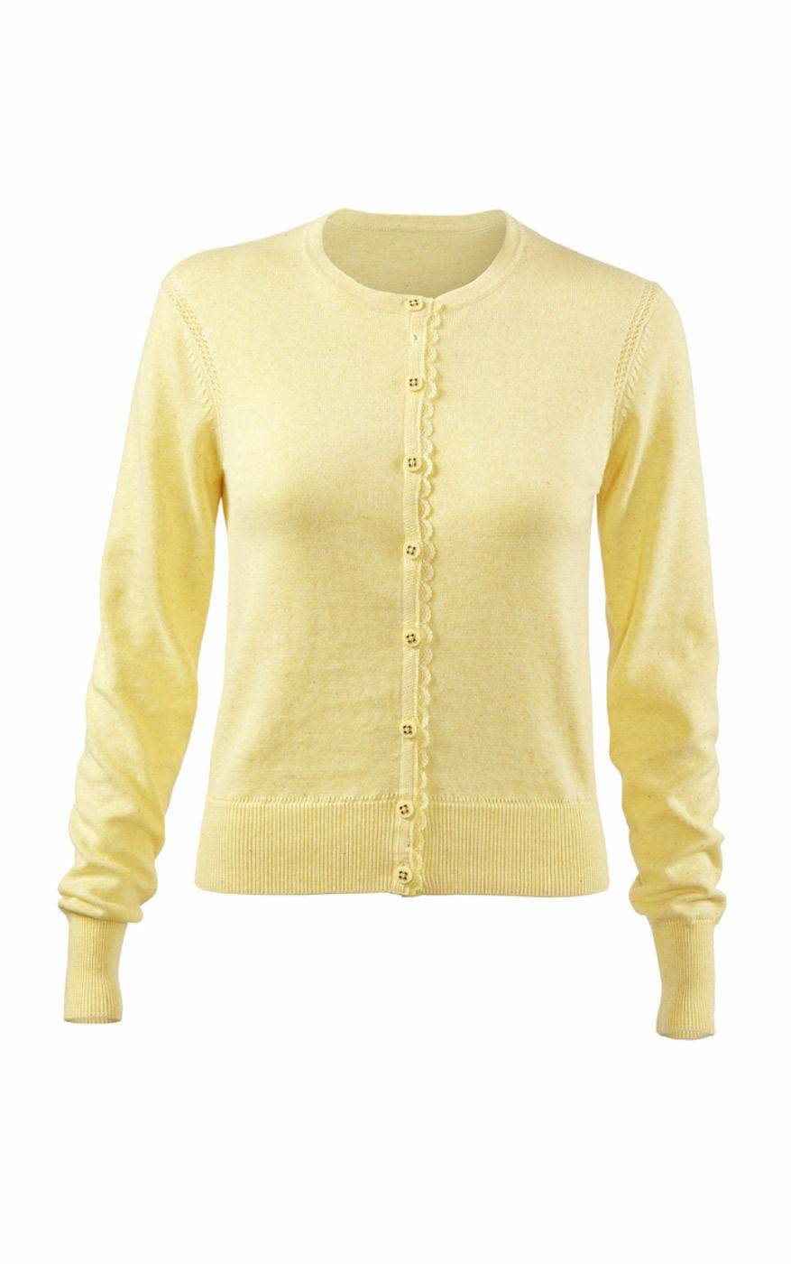 CAbi 100 Cotton Yellow Cardigan Sweater Sizes Style 277 | eBay