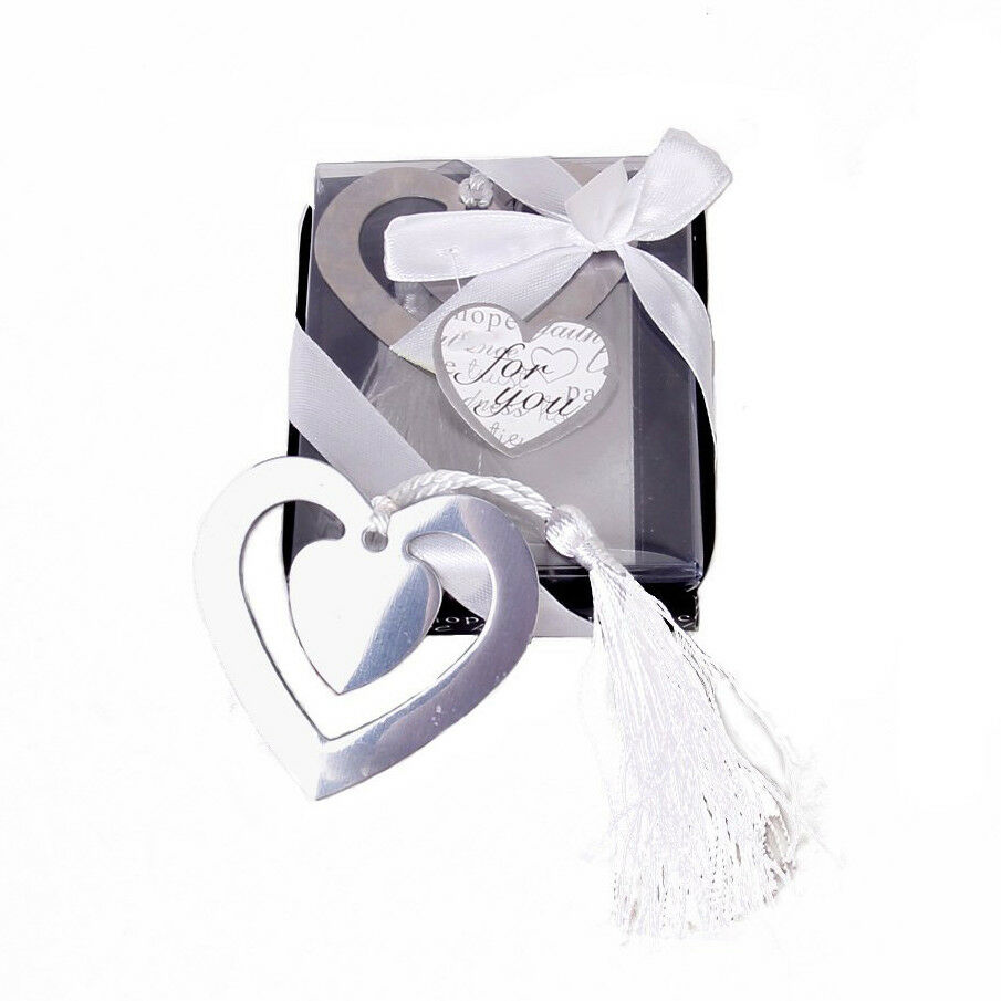 Wedding Favors Double Hearts Bookmark Party Stainless Steel With ...