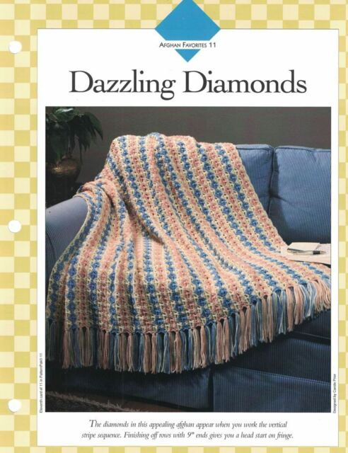 Dazzling Diamonds Afghan To Crochet Single Pattern Vanna White Ebay