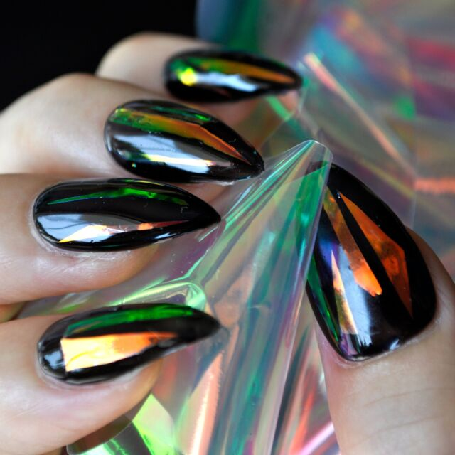 Red Light Laser Nail Foil DIY Holographic Nail Art Decoration ...