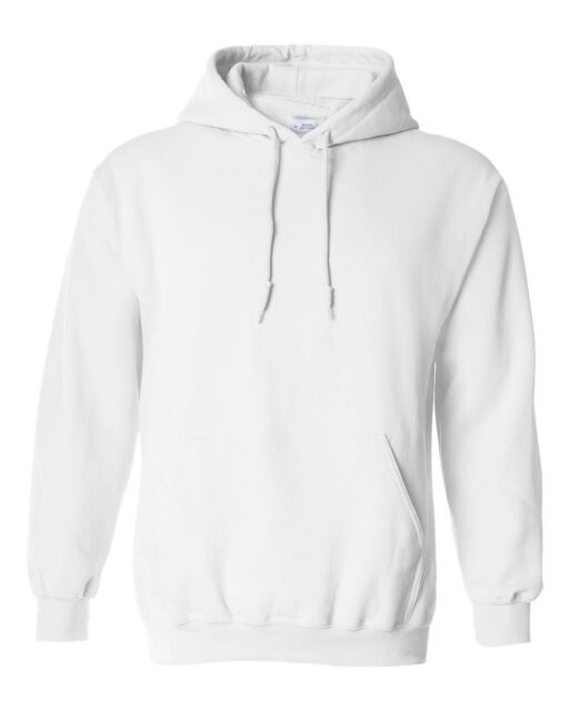 Hooded Plain White Sweatshirt Men Women Pullover Hoodie Fleece ...