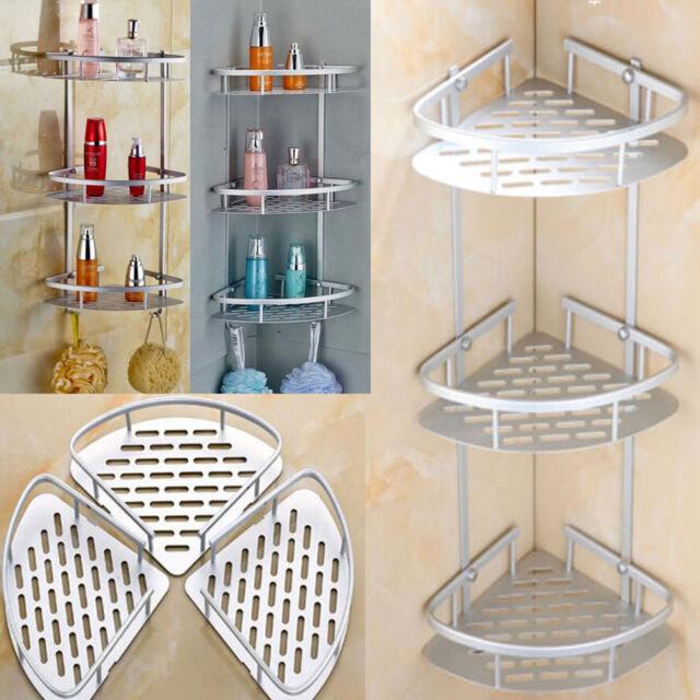 3 Layer Shower Corner Caddy Shelf Bathroom Bath Organizer Rack ...