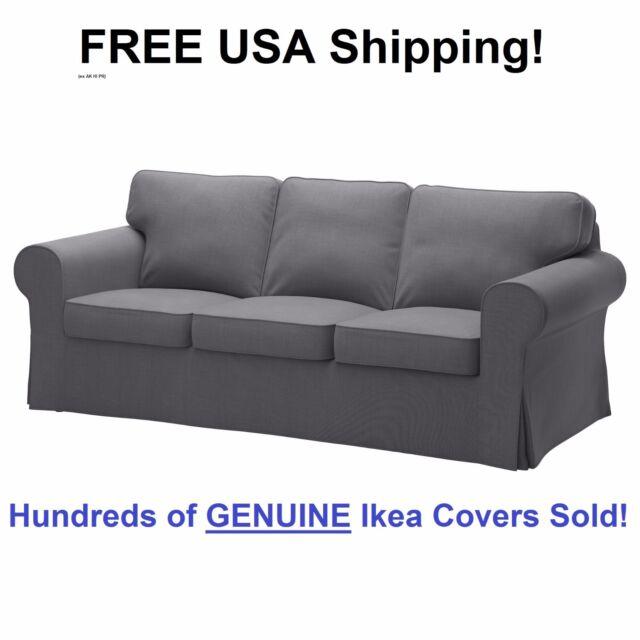 Ikea EKTORP Three (3) Seat Sofa Slipcover Cover NORDVALLA DARK GRAY New!  Sealed