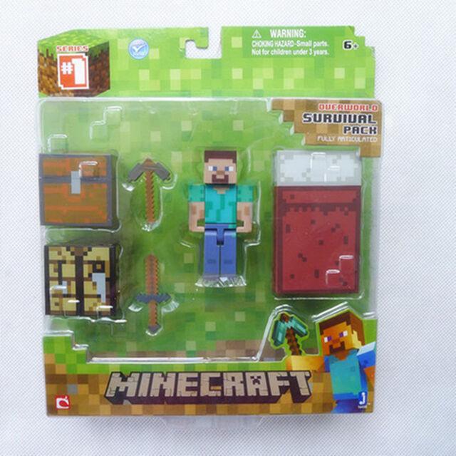Brand New Minecraft Overworld Survival Pack Steve By Jazwares