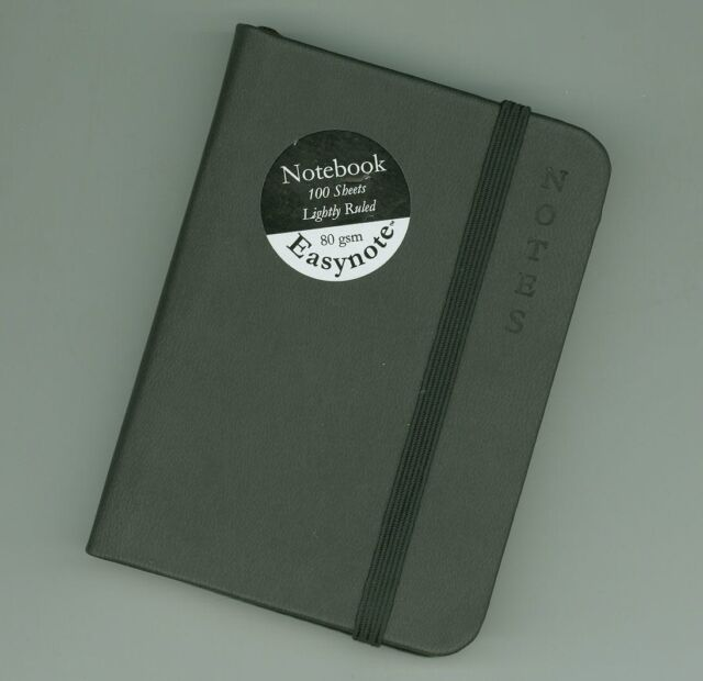 SOFT FEEL PREMIUM A7 RULED POCKET NOTEBOOK *BLACK* - HIGH QUALITY AND LUXURIOUS