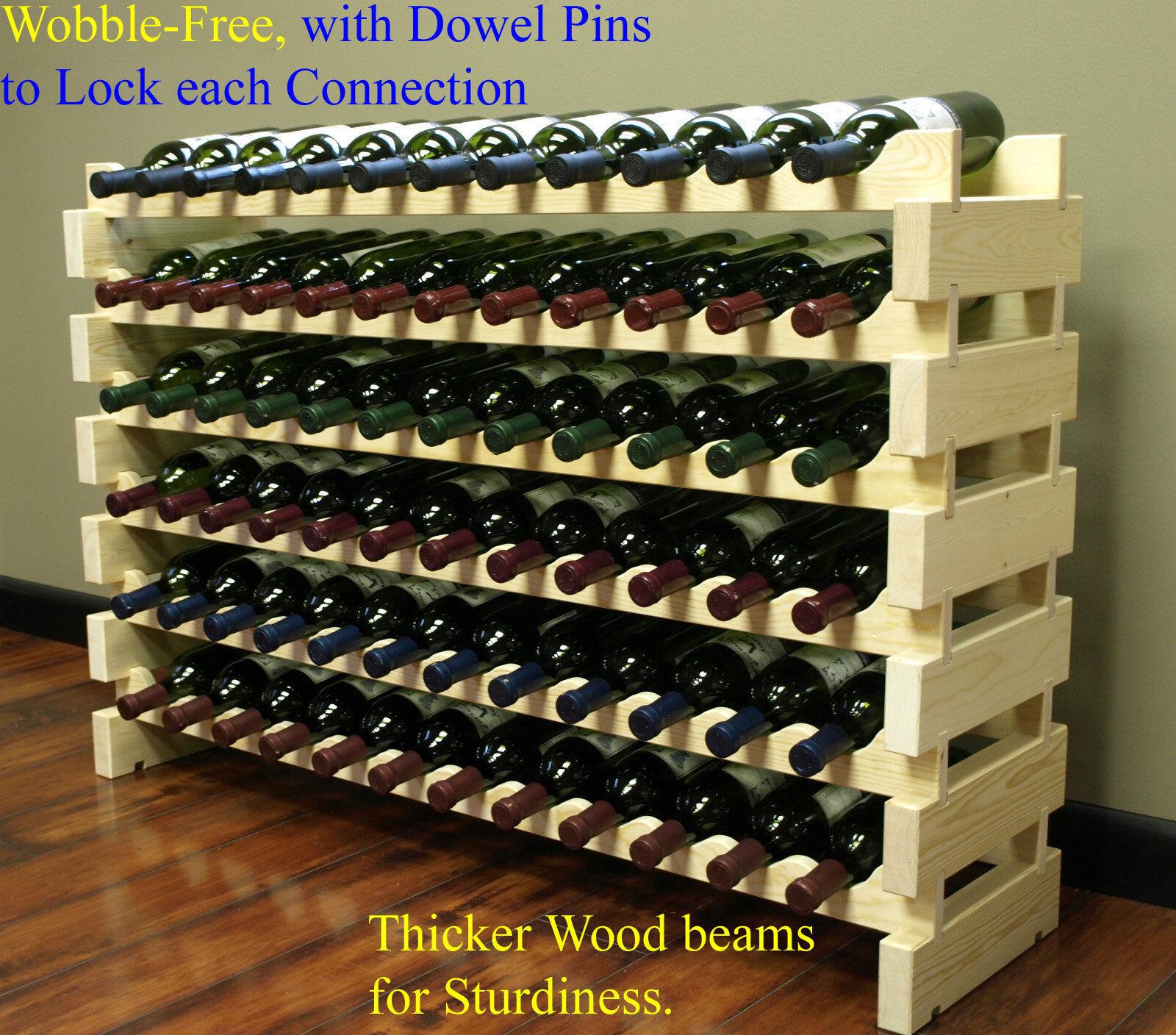 stackable 72 bottles modular hardwood wine racks very easy to put tog