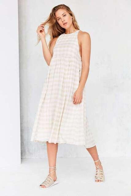 Kimchi Blue Drop Armhole Midi Dress Nude Size UK 12-14 Dh170 AA 18 ...