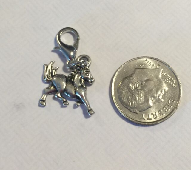 Origami Owl Style Tag Dangle Charm Necklace Love Horse Equestrian