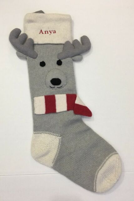 Pottery Barn Kids Natural Fair Isle Knit Reindeer Face Christmas ...