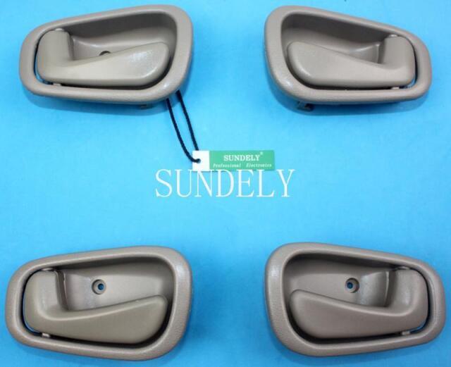 4pcs Beige Inside Door Handle Fit For Toyota Corolla 1998 1999 2000