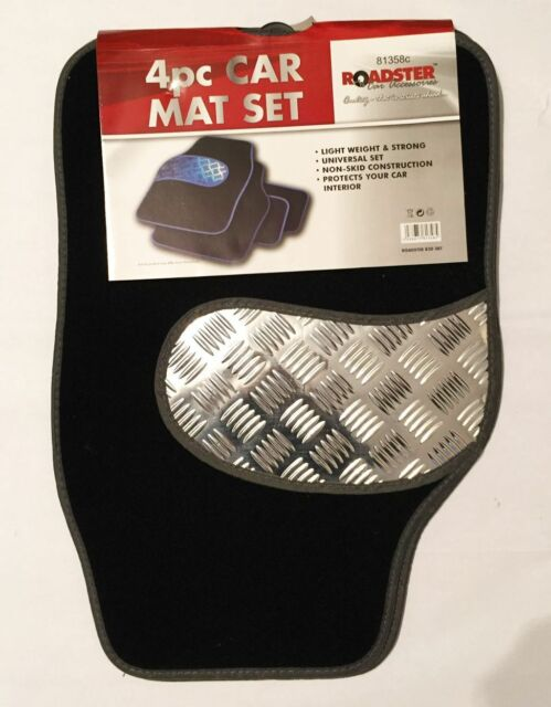 4 PIECE HEAVY DUTY WATERPROOF BLACK GREY  SH CAR MAT SET NON-SLIP GRIP FLOOR MAT