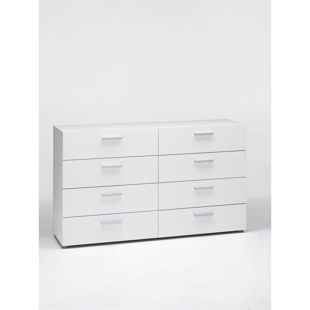 Tvilum Pepe 8 Drawer Double Dresser  White. Dressers   New  Used  White  IKEA  Black  Knobs   eBay
