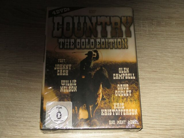 Country The Gold Edition  4 DVD Box NEU OVP Johnny Cash Willie Nelson ...