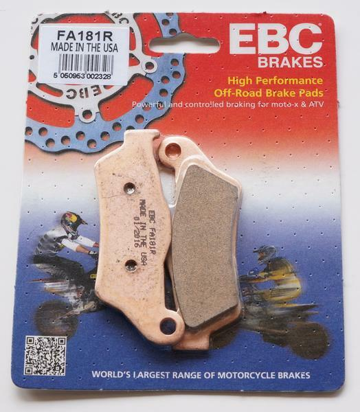 HUSABERG ENFORCER FOUR EBC FRONT / REAR  BRAKE PADS FA181 R FITS   2000 TO 2003